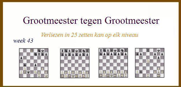 Grootmeester tegen Grootmeester (maar verloren in 25 zetten) wk43