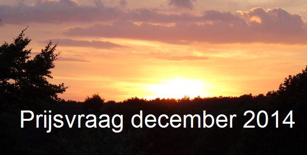 Prijsvraag december 2014