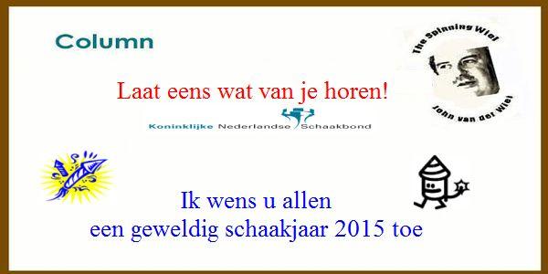 The Spinning Wiel, Eindjaar 2014: Laat eens wat van je horen!