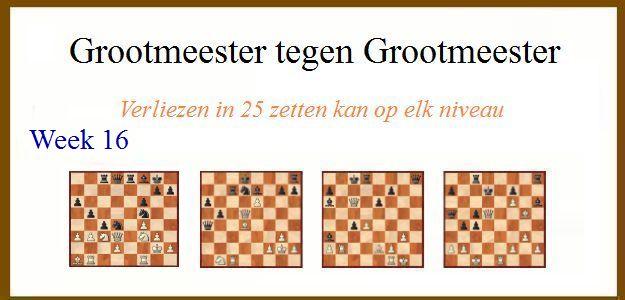 Grootmeester tegen Grootmeester (maar verloren in 25 zetten) wk16