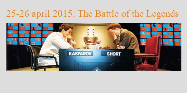 Battle of the Legends: Garry Kasparov wint vier blitz op rij (8,5 -1,5)