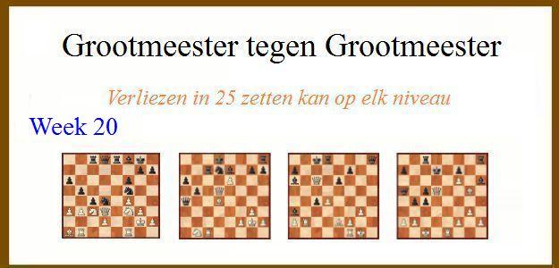 Grootmeester tegen Grootmeester (maar verloren in 25 zetten) wk20