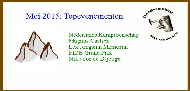The Spinning Wiel, mei 2015: Topevenementen