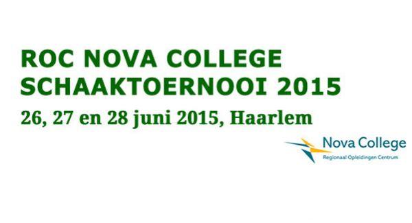 Erik van den Doel wint ROC Nova College Schaaktoernooi 2015