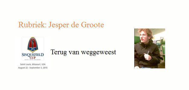 Terug van weggeweest door Jesper de Groote