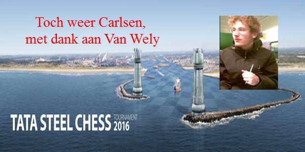 Toch weer Carlsen, met dank aan Van Wely door Jesper de Groote