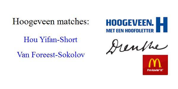 Hoogeveen 2016; Jorden vs Ivan 2.5-3.5, Nigel vs Yifan 3.5-2.5