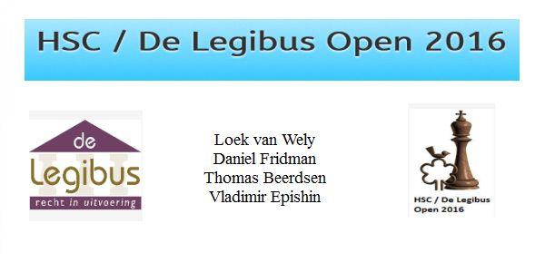HSC / De legibus Open 2016: Winnaars: Loek van Wely, Daniel Fridman