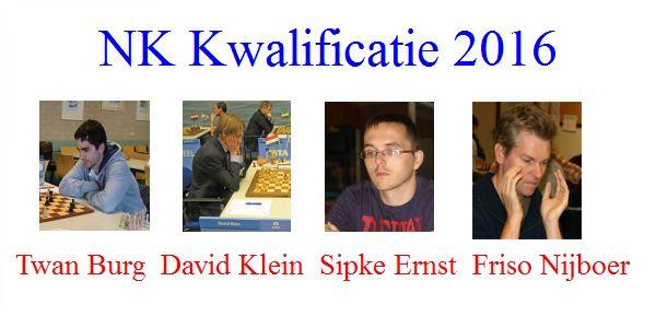 Kwalificatietoernooi voor het NK, Sipke Ernst plaatst zich