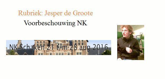 Voorbeschouwing NK  door Jesper de Groote