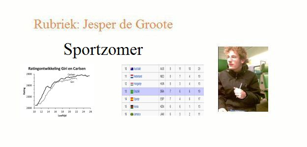 Sportzomer door Jesper de Groote
