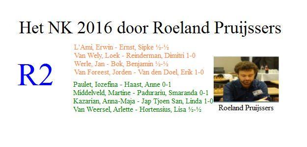 Het NK 2016 door Roeland Pruijssers: Ronde 2