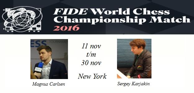 WK 2016: Magnus Carlsen blijft wereldkampioen: Tie-break (3-1)