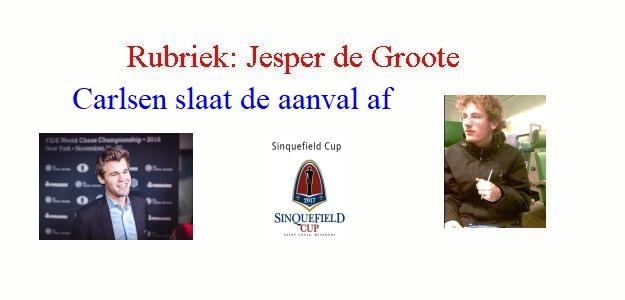 Carlsen slaat de aanval af door Jesper de Groote