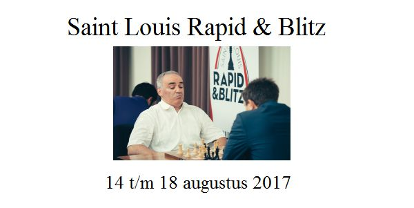 Saint Louis Rapid & Blitz met Garry Kasparov (Rapid: -2 score)(Blitz 0)