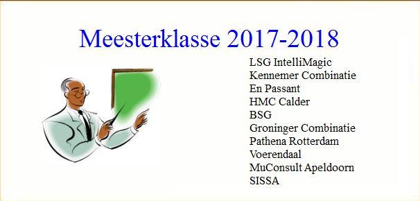 KNSB Meesterklasse seizoen 2017-2018: Stand na ronde 3: LSG, EP en HMC