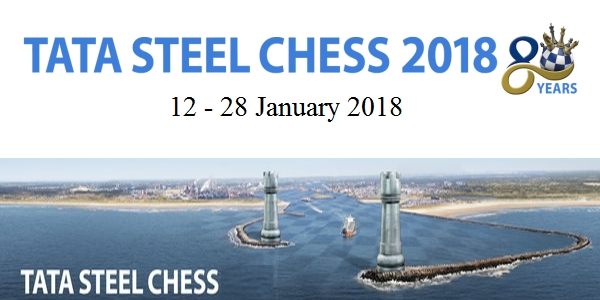 Carlsen, Anand en Kramnik op Tata Steel Chess Tournament 2018