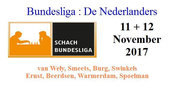 SchachBundesLiga ronde 3 + 4: De Nederlanders